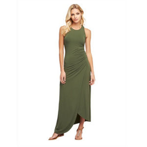 TART Asymmetrical Sleeveless Green Maxi Dress M